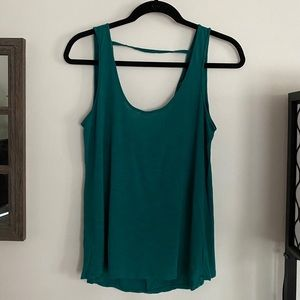 EUC AE open back teal tank top